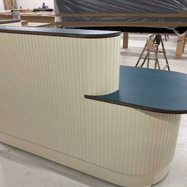 Joinery Reception desk made at our workshop