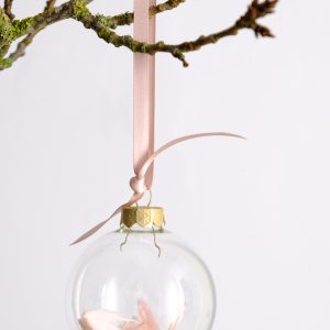 Pink Wild Oats Dried Flower Baubles
