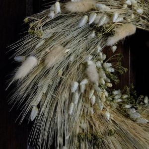 Dried Flower Wreath Nudi Closeup