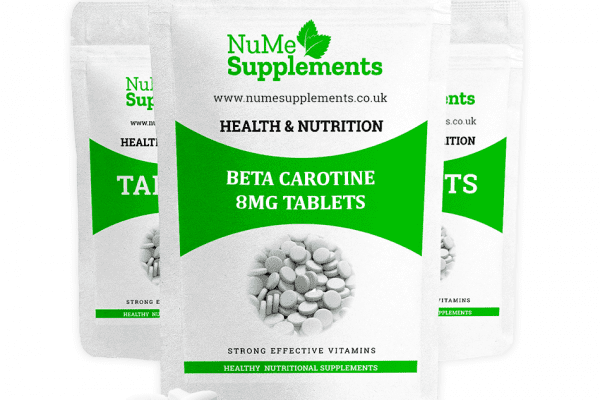 Beta carotene tablets - perfect for vision health, immune system.