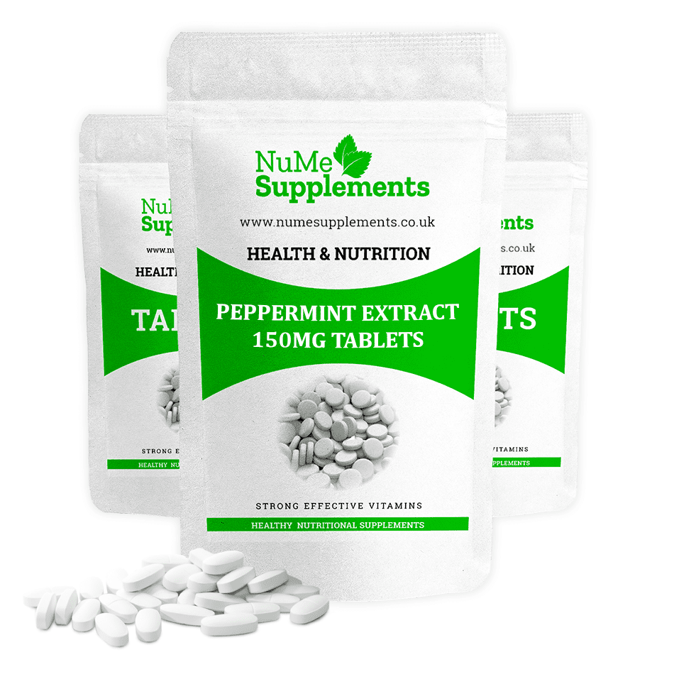 Peppermint Extract Tablets -  take control of IBS symptoms.