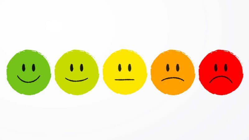 Image of smiley faces and frowny faces illustrating different mood states hooked on a feeling: the forgotten factor in online advertising - moods smileys ss 1920 800x450 - Hooked on a feeling: The forgotten factor in online advertising